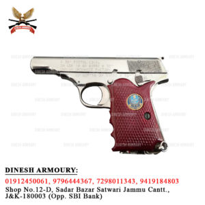 AHSANI PISTOL MK-II SILVER MADE BY GUN AND SHELL FACTORY ( INDIAN ORDNANCE FACTORY)